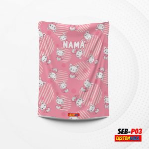 selimut bayi custom nama